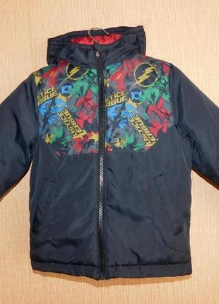 Классная куртка демисезонная justice league 4-5 лет