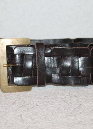 Необычный кожаный ремень от accessorize натуральная кожа