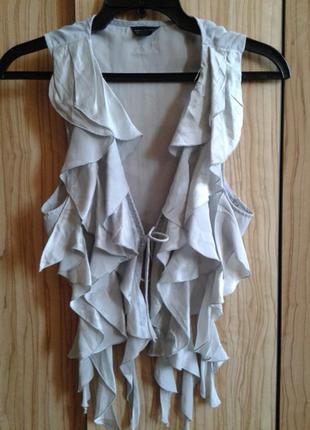 Шикарная шелковая блуза накидка болеро от topshop,p.34