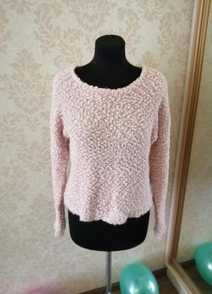 Пудровый укороченый свитер