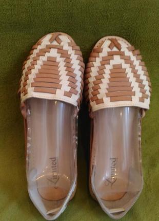 Кожаные плетеные британские мокасины туфли