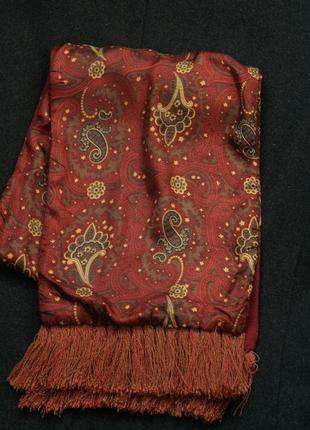 Двухсторонний мужской шарф (кашне, огурцы)
