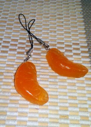 Вкусные брелочки в виде мандаринок, новые