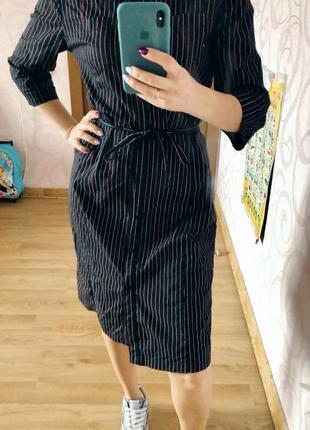 Платье рубашка в полоску от h&m