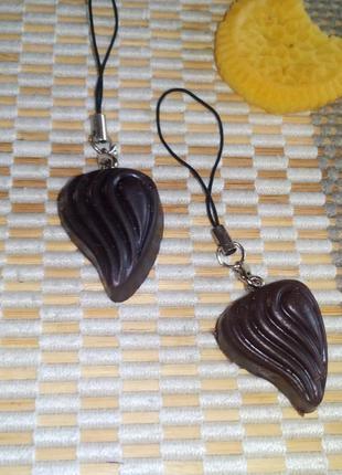 Вкусные брелочки шоколадные конфетки