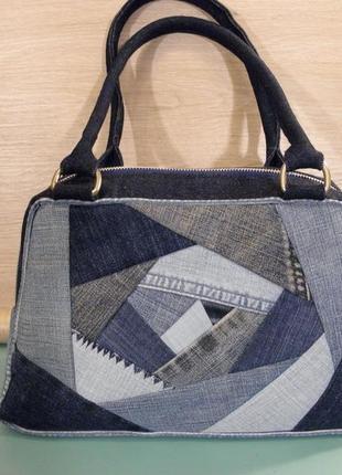 """Елегантна сумка """"квілт-денім"""""""