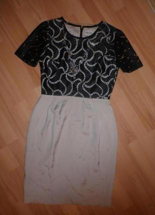 Плаття льон- кружево