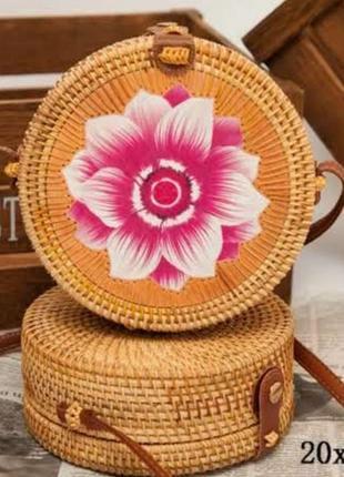Акция 🌹соломенная сумка плетёная сумка из ротанга