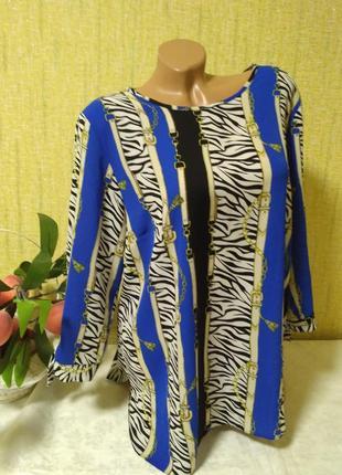 Красивая легкая блуза с удлиненной спинкой