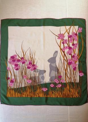 Шелковый платок gres винтажный франция