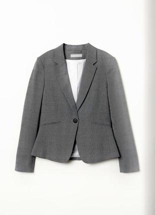 Пиджак h&m с принтом гусиная лапка