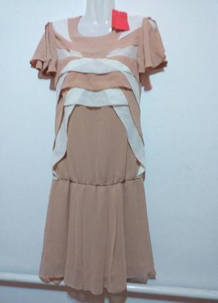 Дизайнерское шифоновое платье макко с оригинальной спинкой раз.36 (10)