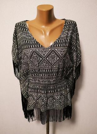 Накидка блуза с бахромой / большая распродажа!