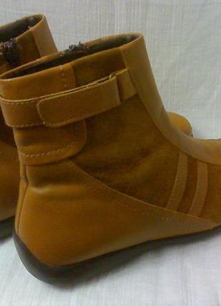 Рыжие кожаные ботинки.италия.40 -41 размер.
