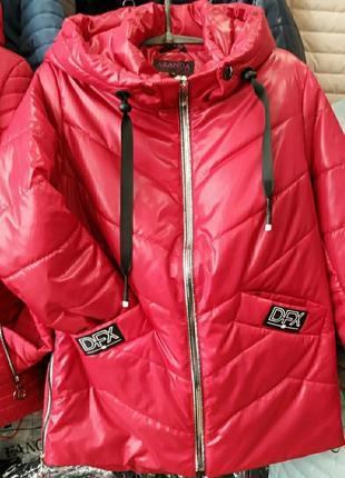 Стильная весеняя куртка, размер 58