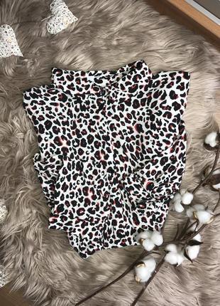 Рубашка в леопардовый принт