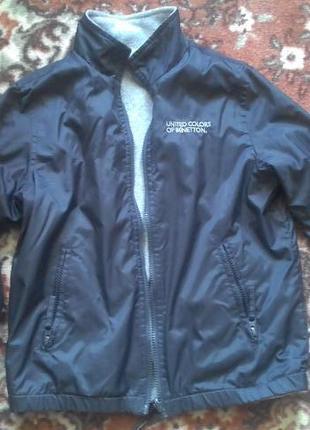 Детская куртка двухсторонняя на мальчика р.134