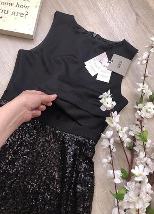 Очень стильное вечернее платье с пайетками, короткое вечернее платье,