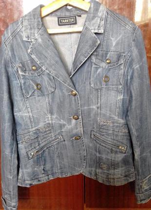 Джинсовая куртка-пиджак  р.44-46