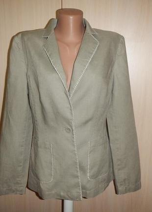 Льняной пиджак жакет per una(marks & spencer) p.10