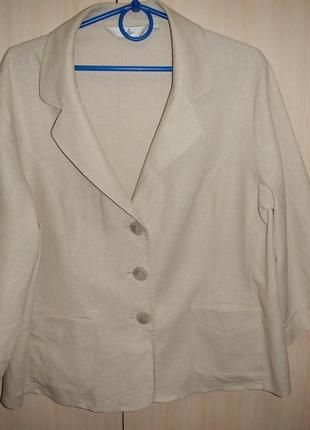 Льняной пиджак жакет isle p.18