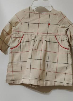 Платьеце с трусиками для девочки на 3 месяца.  kiabi.