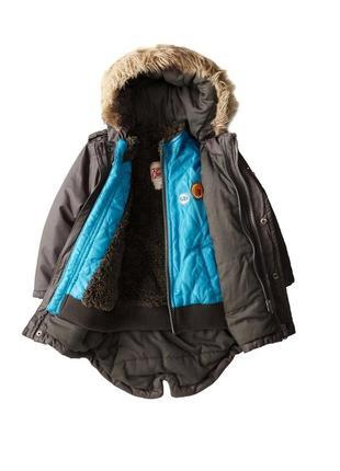 Парка куртка 3 в 1 для мальчика kanz