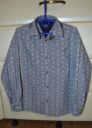 Хлопковая рубашка matalan на рост 134 см (8-9 лет).