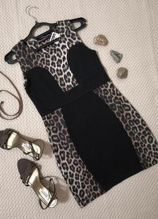 Приталенное стрейчевое платье boohoo   р. 44-46