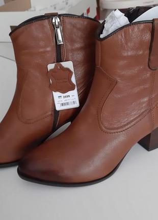 Нові шкіряні черевички осінь-весна, розмір повний 40.