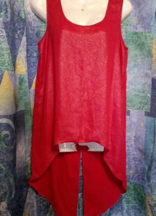 Модная яркая удлиненая блуза f&f