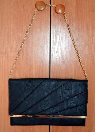 Женская вечерняя сумочка клатч на цепочке