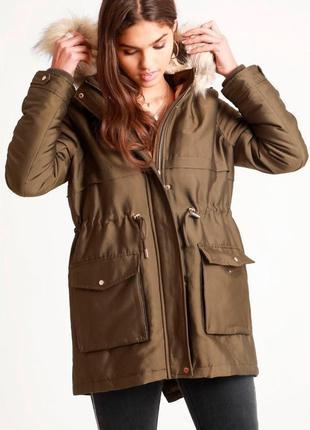 Утеплённая куртка парка на весну\осень