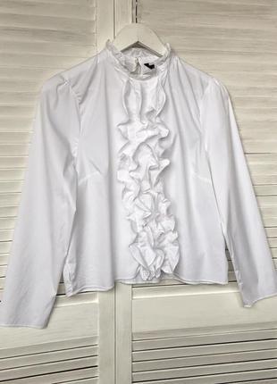 🌺рубашка,блуза,топ с оборками zara(см.замеры)