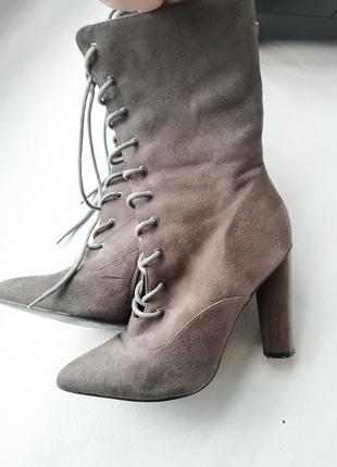 Демисезонные ботинки на шнуровке truffle collection