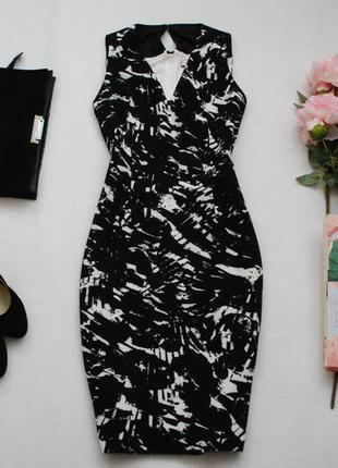 До -50% скидка/ фактурное миди платье с замком на спинке
