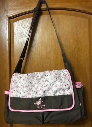 Сумка портфель кроссбоди babyboom emily органайзер для мамы и на коляску