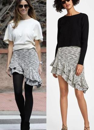 Асимметричная юбка с воланом zara