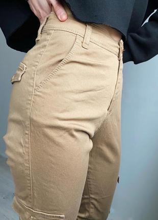 Брюки штаны карго / спортивные с карманами / повседневные