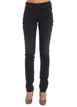 Чёрные  женские  джинсы armani jeans