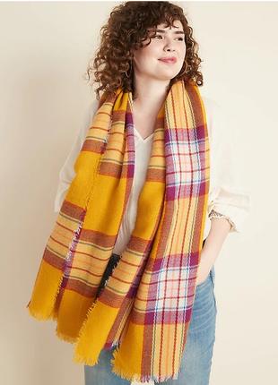 Свободный фланелевый шарф для женщин с бахромой, old navy