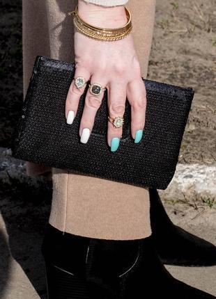 Набор браслетов новогодние кольца 5 шт h&m золото серебро бижутерия украшение