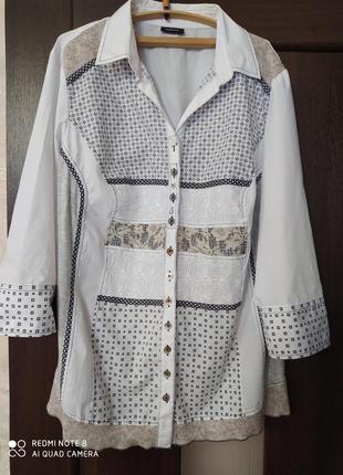 Нарядная блузка, большой размер, батал