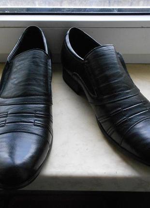 Туфли классические 41,42 размер,стелька 27 см, бренд  centro,  pu-кожа