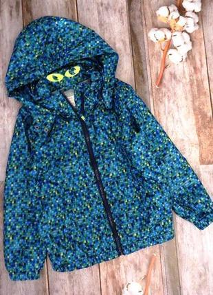 Бомбезная куртка с глазками, ветровка esprit на 4-5 лет