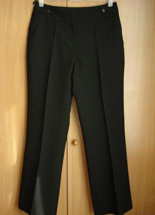 Классические черные широкие прямые брюки