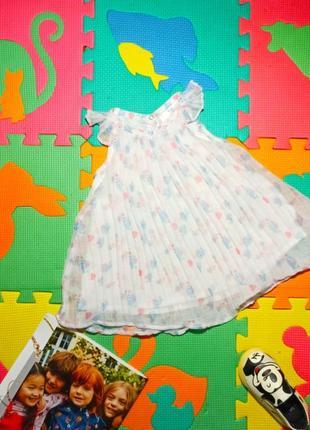 Платье плиссе для маленькой принцессы