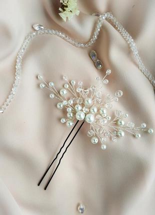 Шпилька в прическу, украшение на свадьбу, выпускной