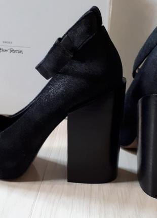 Туфли на широком,каблуке,новые,натуральная замша,кожа & other stories