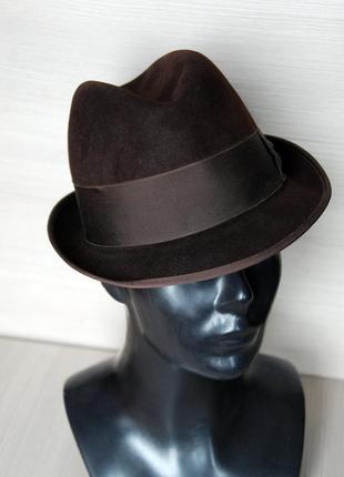 Шляпа stetson модель трилби цвет горький шоколад размер 56-57
